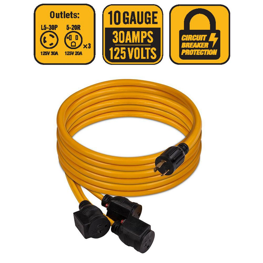 Firman Power Equipment L5 30p To 3 X 5 20r 25 Ft Cord Fg1105 Electrical Wiring Accessories Information