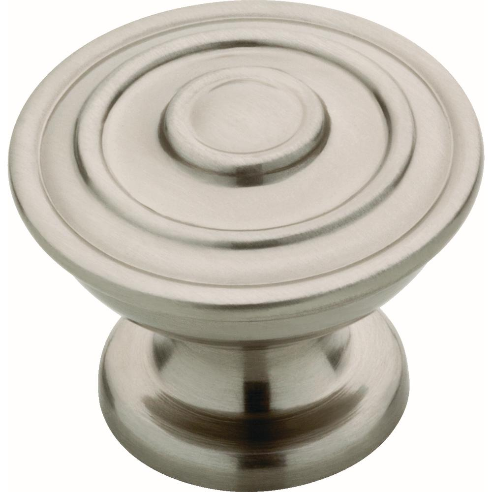 Liberty Liberty Essentials Hayes 1-1/4 in. (32 mm) Satin Nickel Cabinet Knob (10-Pack)
