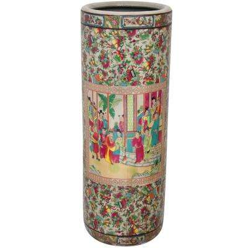 Oriental Furniture 23.5 in. Porcelain Decorative Vase in Red