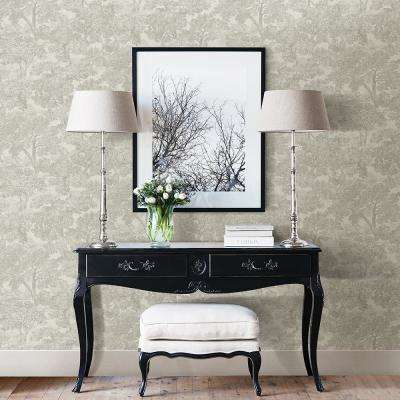 Blyth Grey Toile Paper Strippable Roll Wallpaper (Covers 56.4 sq. ft.)