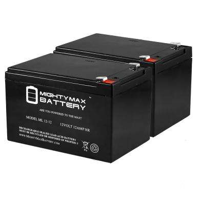 12-Volt 12 Ah SLA (Sealed Lead Acid) AGM Scooter Replacement Battery (2-Pack)