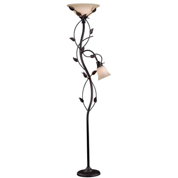 Ashlen 72 in. Oil-Rubbed Bronze Mother and Son Torchiere