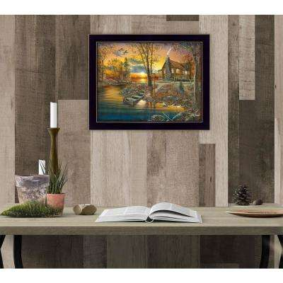 "11 in. x 14 in. ""As Night Falls"" by Jim Hansen, Printed Framed Wall Art"