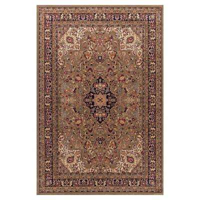 Jewel Heriz Green 8 ft. x 10 ft. Area Rug