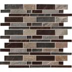 Urbano Blend Interlocking 12 in. x 12 in. x 8mm Glass Stone Mesh-Mounted Mosaic Tile (10 sq. ft. / case)