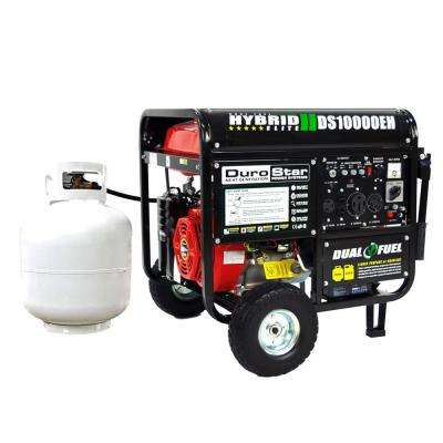 8,000-Watt Red Dual Fuel Powered Electric Start Portable Generator