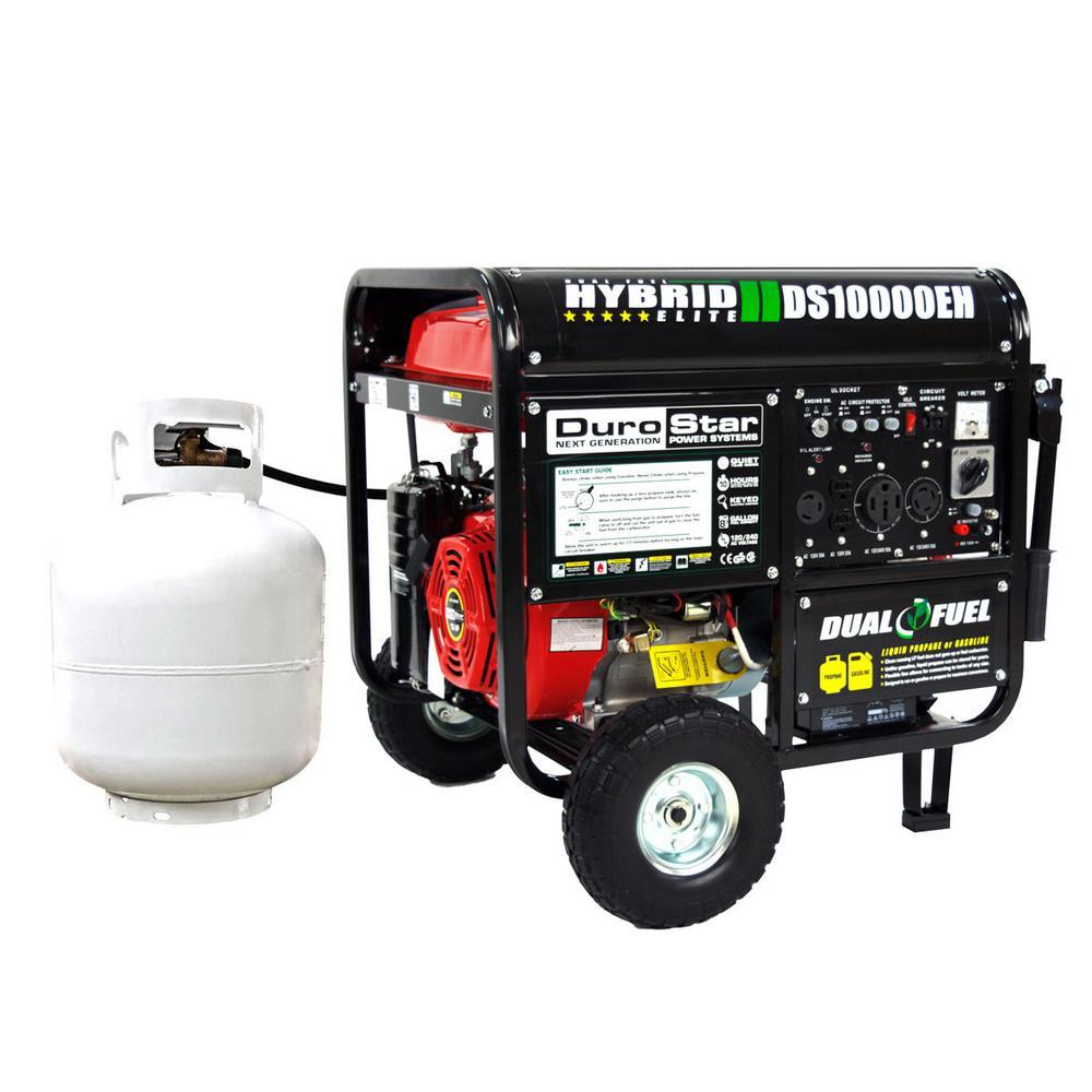 DuroStar DS10000EH 10000 Watt 18 Hp Dual Fuel HYBRID Generator w/ Electric Start