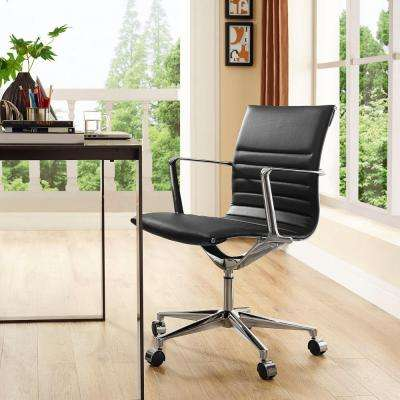 Vi Mid Back Fabric Office Chair in Black