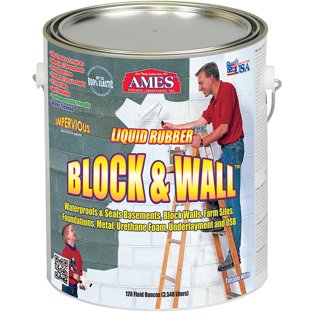 Ames Block And Wall 1 Gallon Liquid Rubber Waterproof
