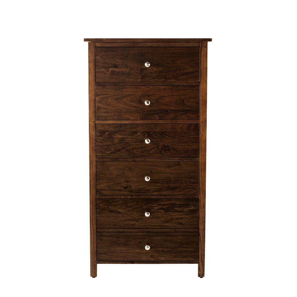 Home Decorators Collection Deerfield 5-Drawer Chest in Warm Brown