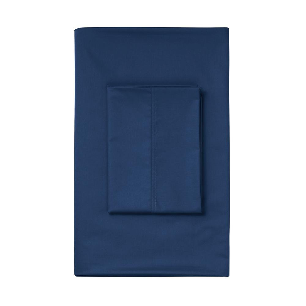 The Company Store Blue Sapphire Sateen Queen Duvet Cover DT95-Q-BLUSAPP