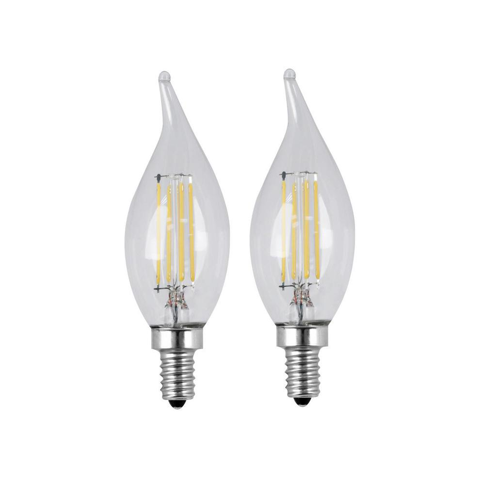 Feit Electric 40w Equivalent Soft White A19 Clear Filament: Feit Electric 60W Equivalent Soft White (2700K) CA10