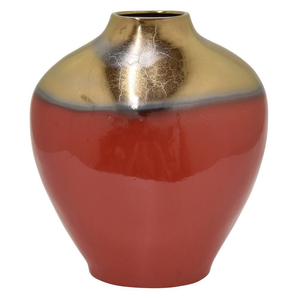 15.75 in. Red Ceramic Vase