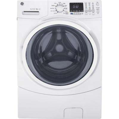 4 5 Cu Ft High Efficiency White Front Load Washing Machine With Steam Energy Star