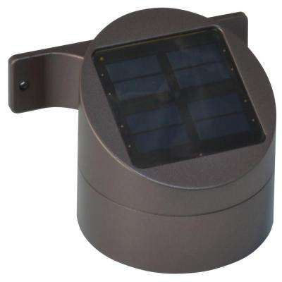 Solar Powered LED Bronze Outdoor Sconce Deck Light