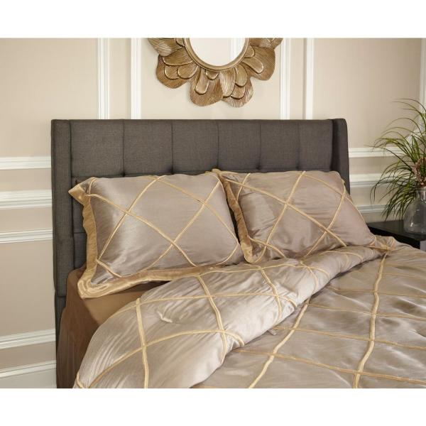 Linon Home Decor Luxe Charcoal Full