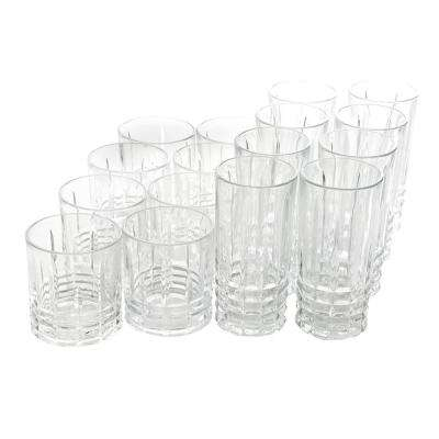 Jewelite 16-Piece Tumbler and Double Old Fashioned Glass Set