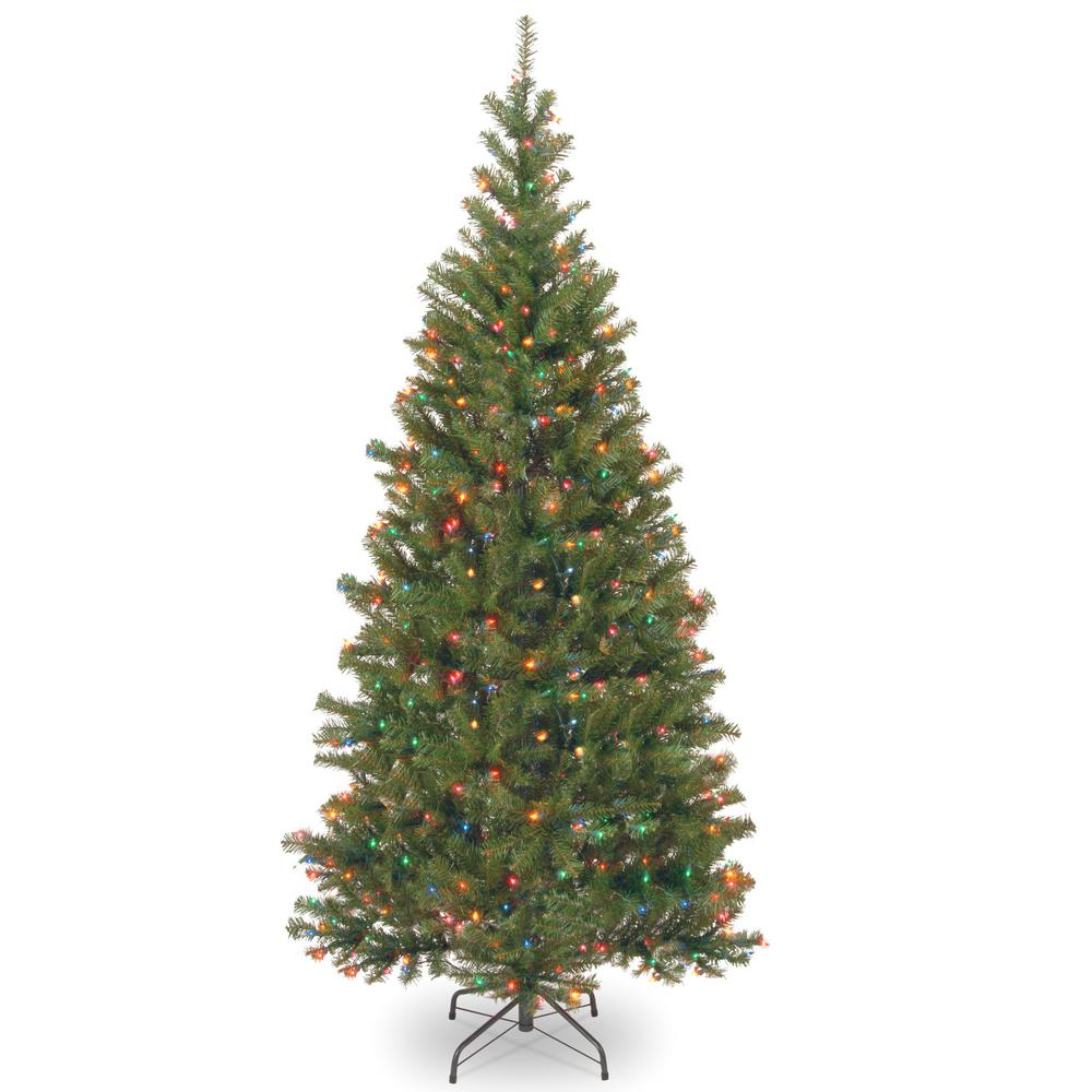 national tree company 6 ft aspen spruce artificial christmas tree with multicolor lights