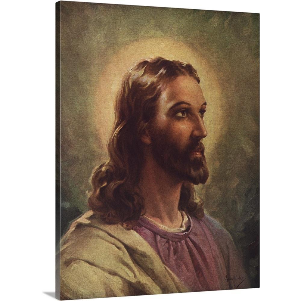 """Jesus Christ"" by George Hinke Canvas Wall Art"