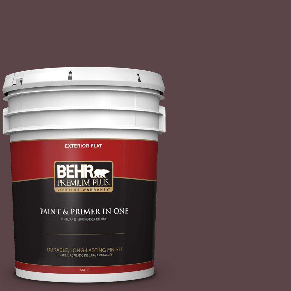 5-gal. #HDC-CL-07 Dark Berry Flat Exterior Paint