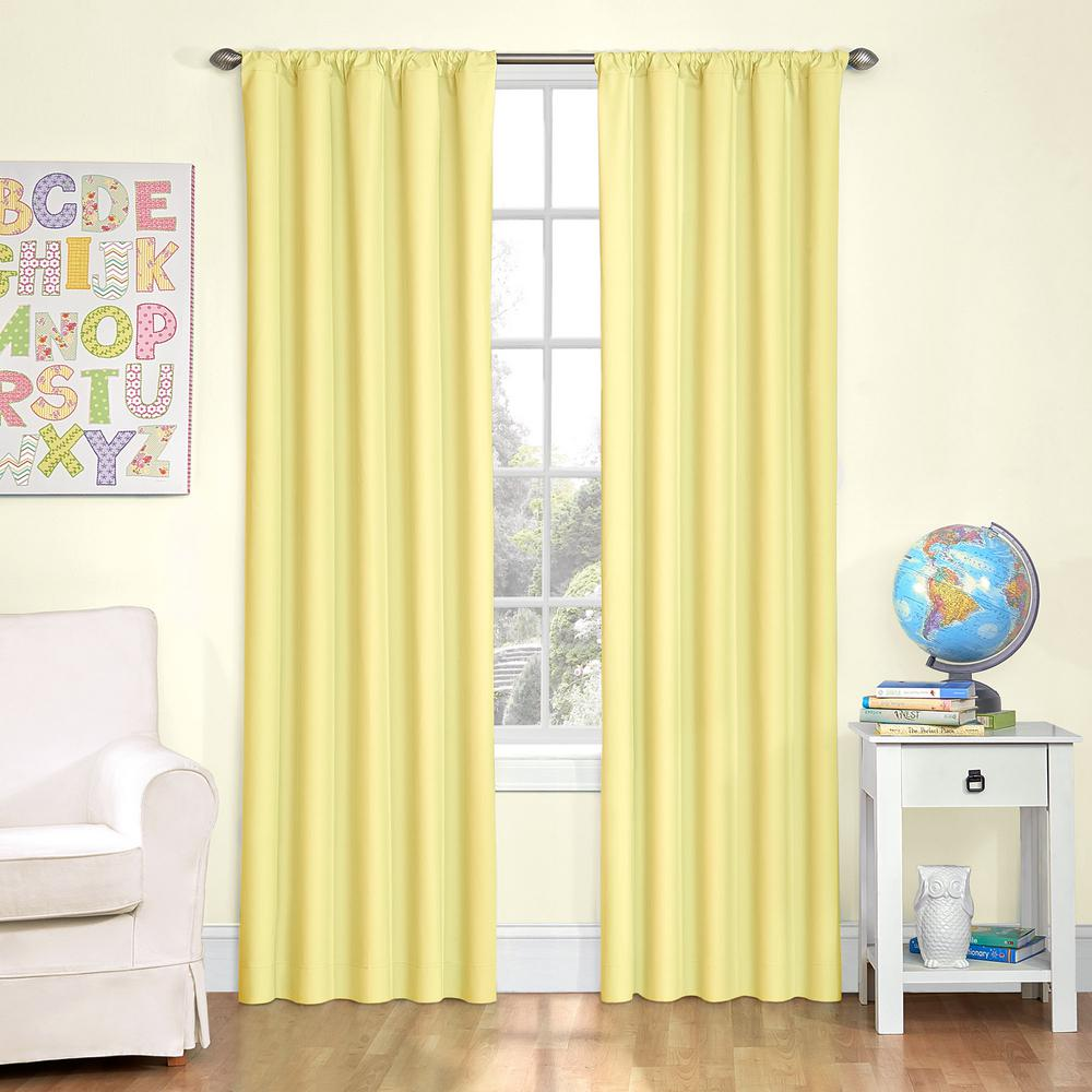 Lemon Kitchen Decor At Target: Eclipse Blackout Yellow Smooth Polyester Rod Pocket