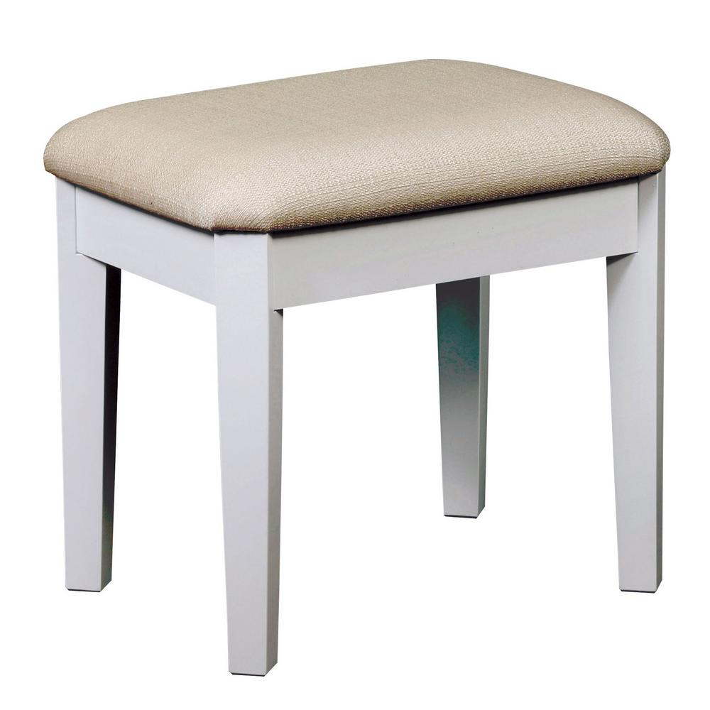 Furniture Of America Arriana 2 Piece White Tri Fold Mirror Vanity Set