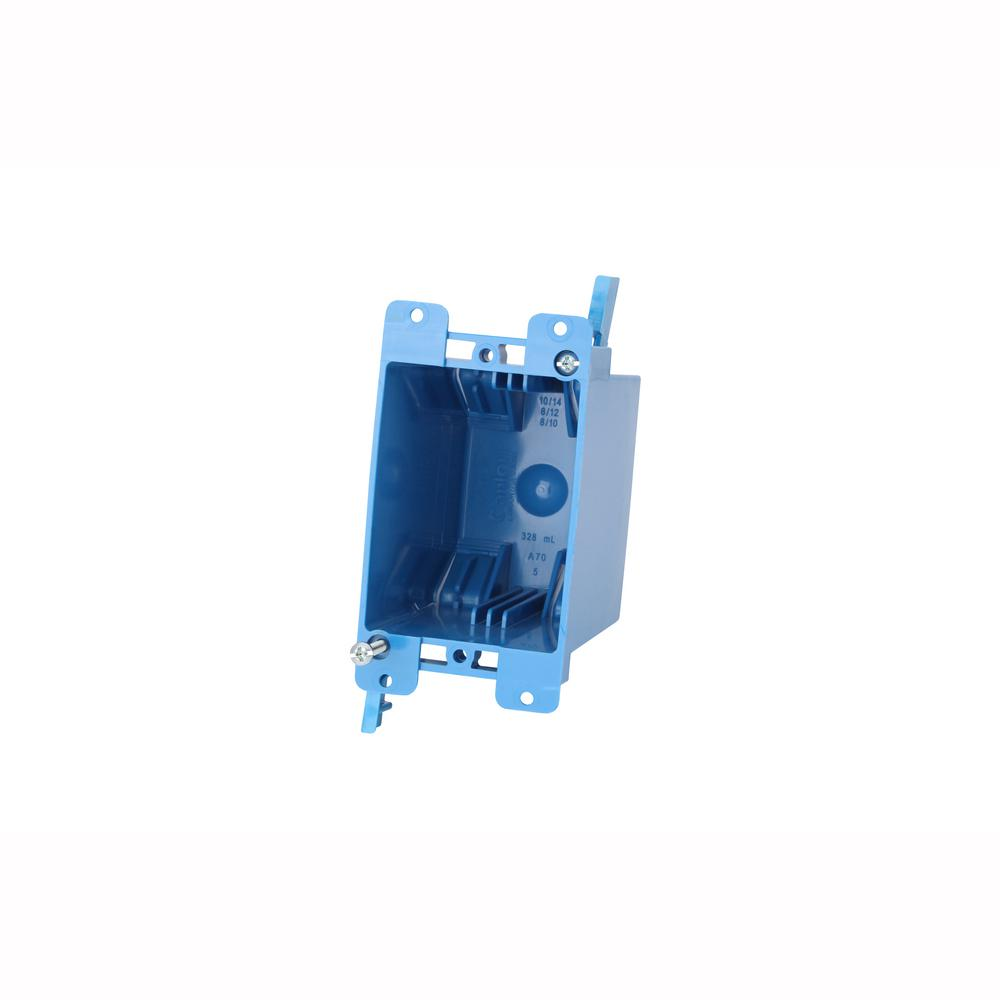 1-Gang 20 cu. in. Blue PVC Old Work Switch and Outlet