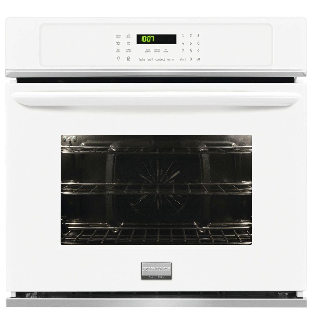 Frigidaire Gallery 30 In Single Electric Wall Oven Self Cleaning With Convection White