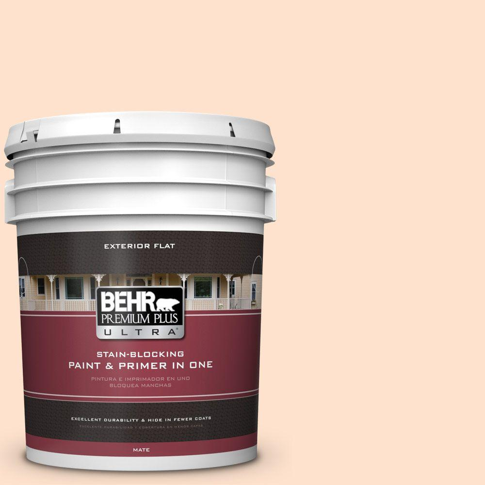 BEHR Premium Plus Ultra 5-gal. #P200-1 Melted Marshmallow Flat Exterior Paint