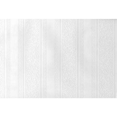 Paintable Dorothy Textured Stripe Vinyl Peelable Wallpaper (Covers 56.4 sq. ft.)