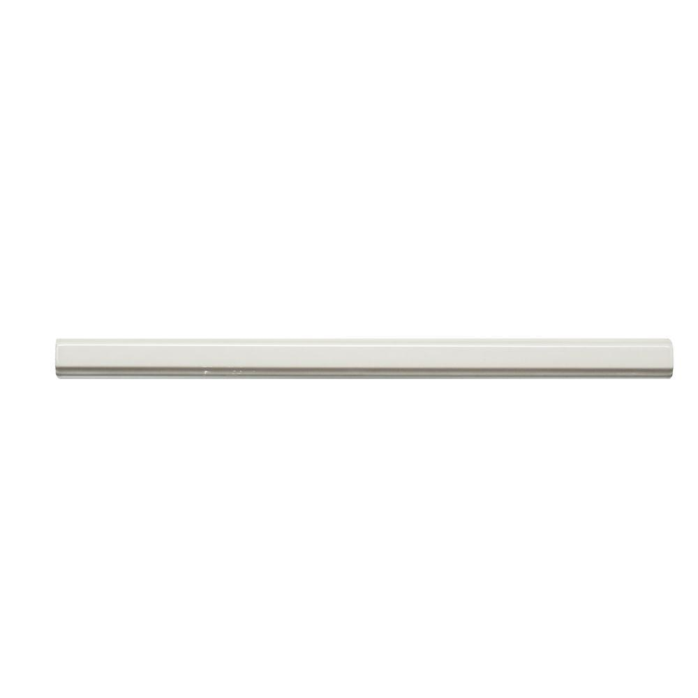 Jeffrey Court Weather Grey Pencil 3 4 In X 12 Ceramic Molding