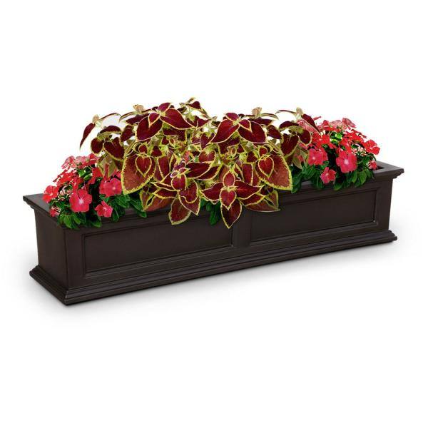 60 in. x 11 in. Espresso Plastic Window Box