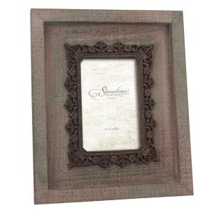 Stonebriar Collection 1-Opening 4 inch x 6 inch Brown Weathered Wood Picture Frame by Stonebriar Collection