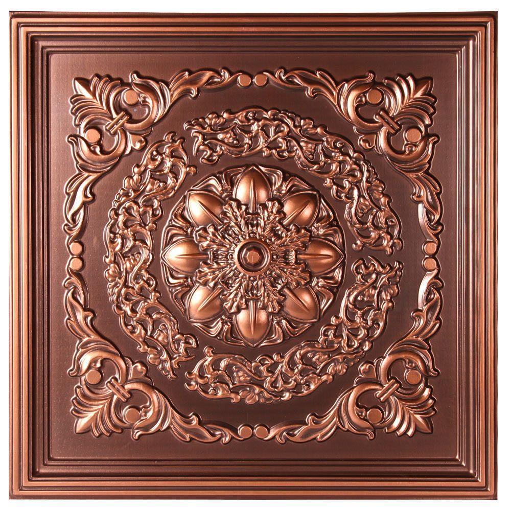 tiles copper ceiling ceilings tins decorative metal tin tile faux sheets squares panels