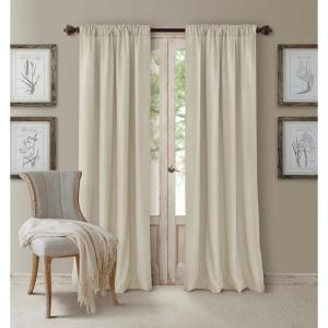 Click here to buy  Blackout Cachet 52 inch W x 84 inch L Blackout Window Curtain Panel Ivory.