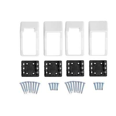 Walton White Stair Railing Bracket Kit (4-Piece)