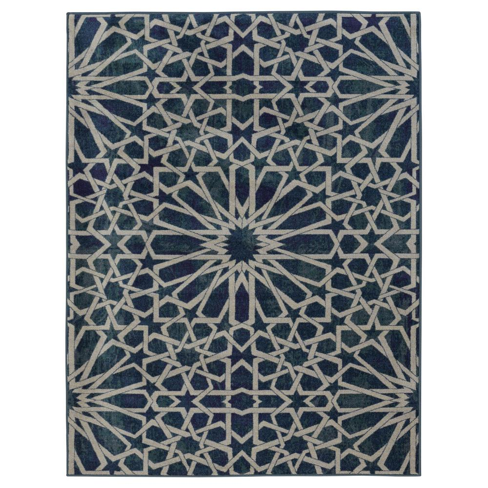 Ottomanson authentic collection contemporary geometric for Geometric print area rugs