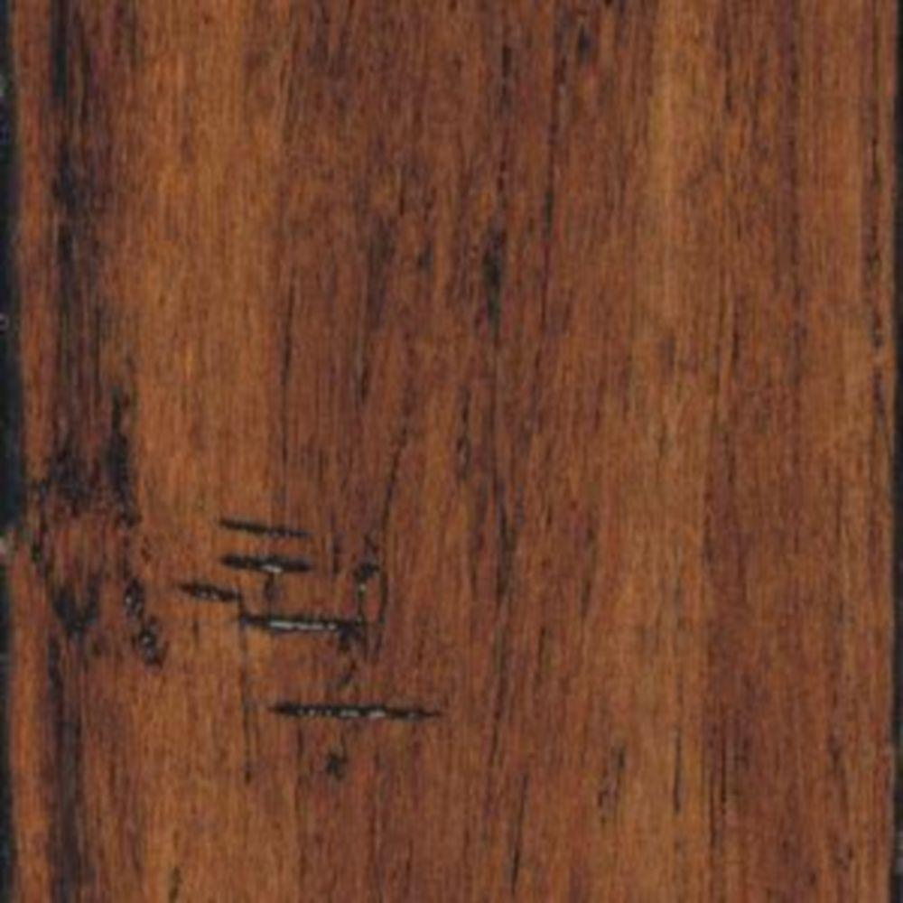Home Legend Hand Scraped Strand Woven Spice Click Lock Bamboo Flooring - 5 in. x 7 in. Take Home Sample-DISCONTINUED