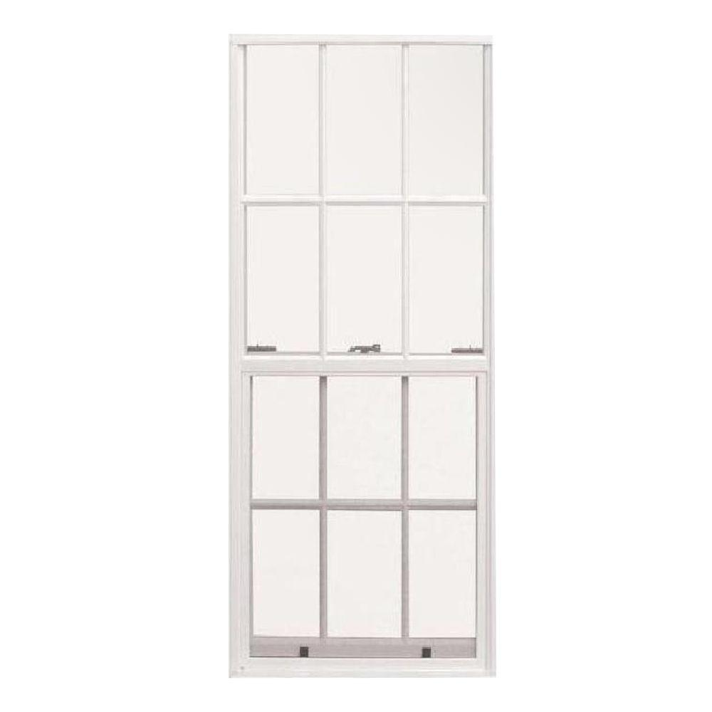 36 in. x 37.375 in. French Single Hung Aluminum Window -