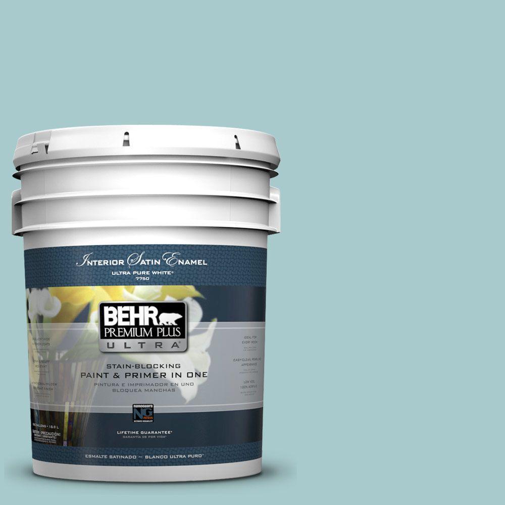 BEHR Premium Plus Ultra 5-gal. #PMD-95 Coastal Surf Satin Enamel Interior Paint