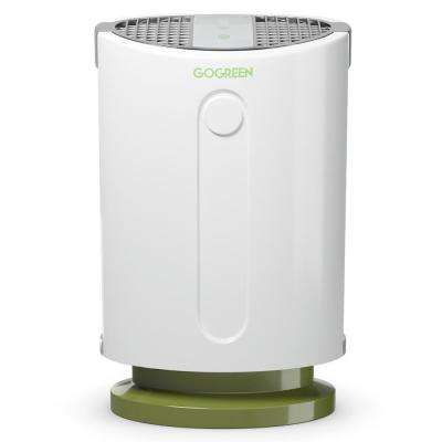 White 3-in-1 Air Purifier with HEPA Filter Particle Carbon Filter
