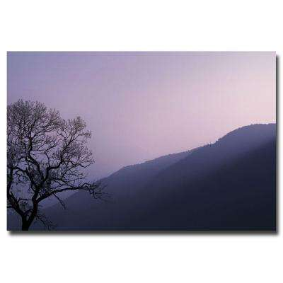 30 in. x 47 in. Purple Hours II Canvas Art