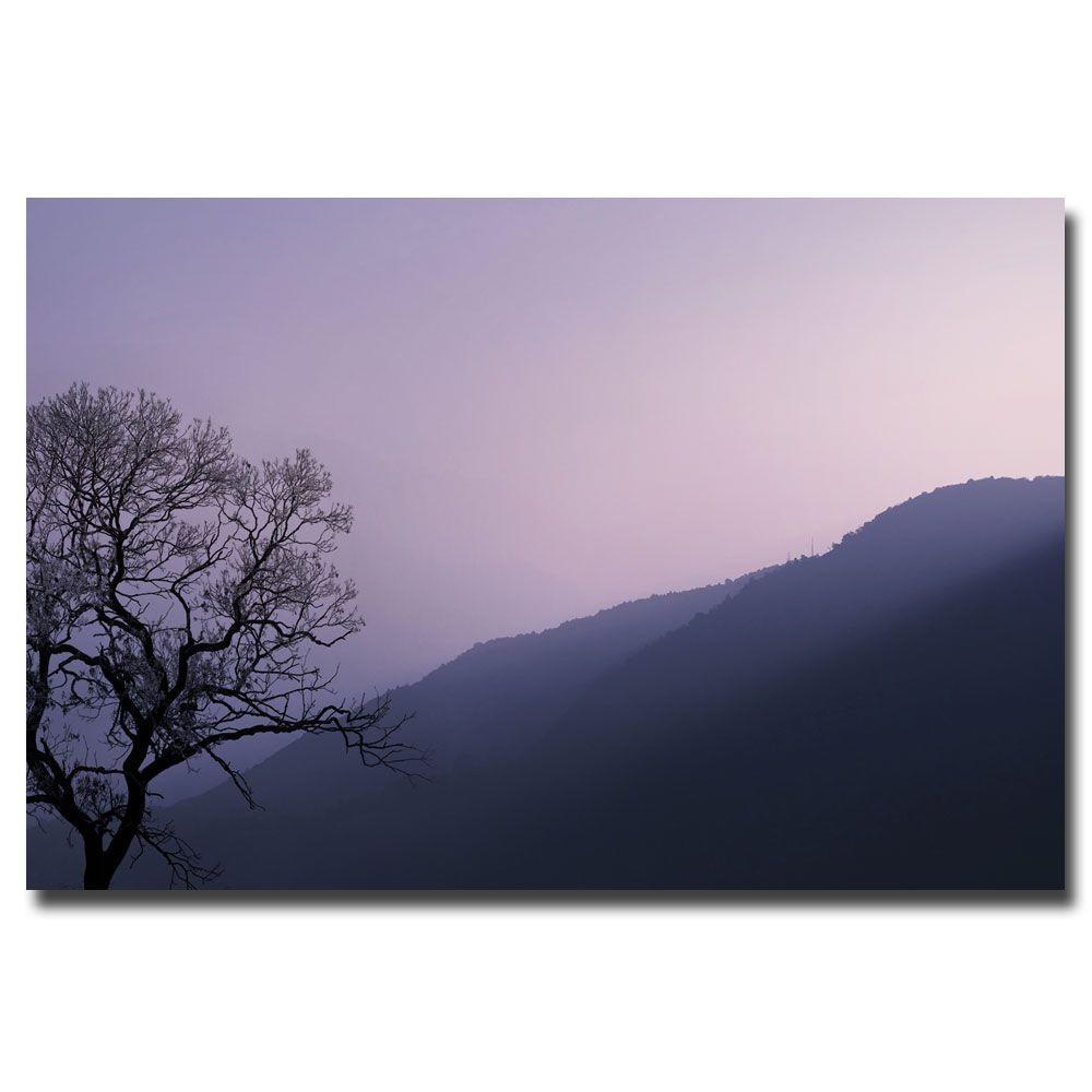 30 in. x 47 in. Purple Hours II Canvas Art