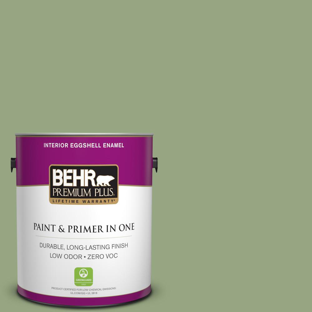 BEHR Premium Plus 1-gal. #M380-5 Hillside Grove Eggshell Enamel Interior Paint