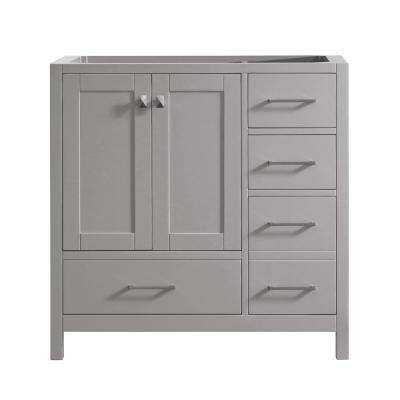 Caroline Madison 36 in. W Bath Vanity Cabinet Only in Cashmere Gray