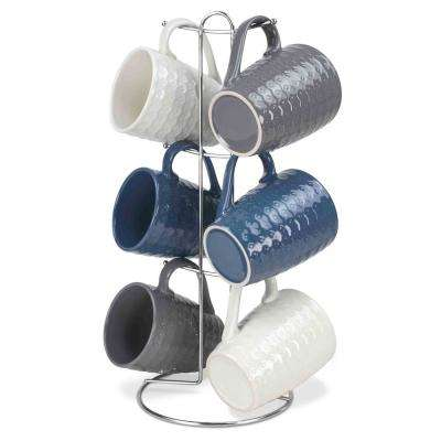 11 oz. Stoneware 6 Piece Mug Set in Corchet
