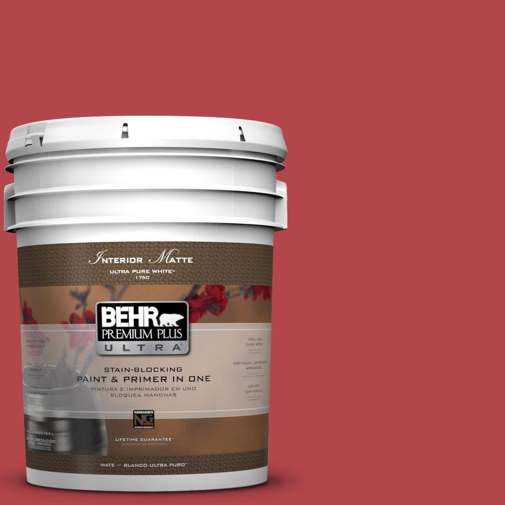 5 gal. #HDC-SM14-10 Intrigue Red Matte Interior Paint