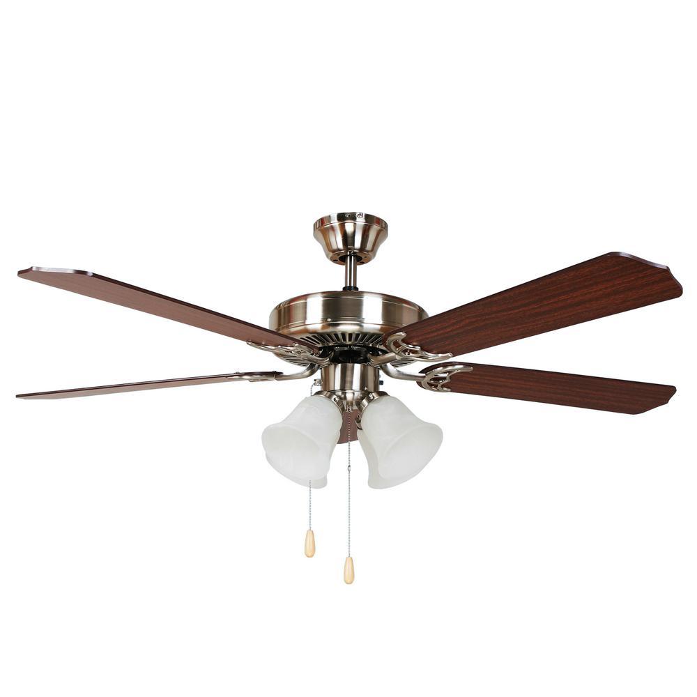 Decorative Ceiling Fans : Y decor harli in brushed nickel ceiling fan bbn