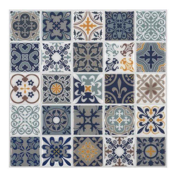 Moroccan Rano 10 in. W x 10 in. H Peel and Stick Decorative Mosaic Wall Tile Backsplash (5 Tiles)