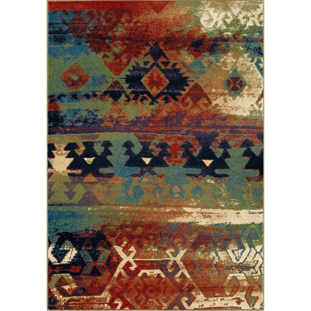 Orian Rugs Southwest Dreamcatcher Multi Red 8 Ft X 11 Ft